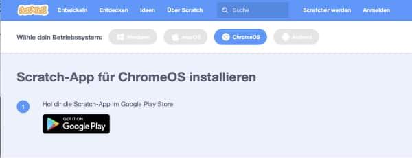 App Chrome OS installieren