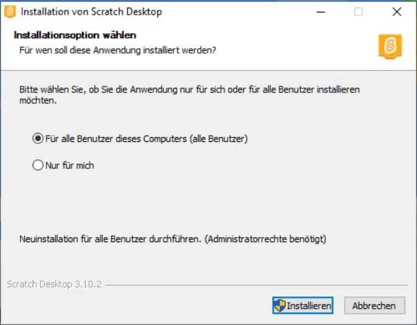 Installation Scratch Download Windows zehn