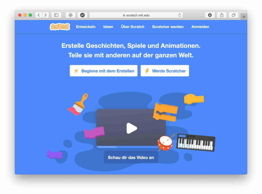 Version Scratch im Browser