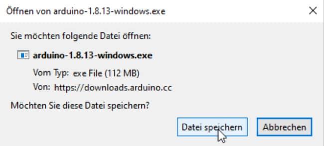 Datei auf der Festplatte speichern