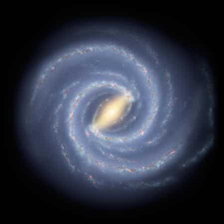 Milchstraße für Kinder: Aussehen im All
