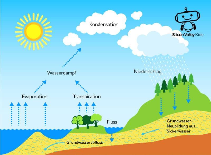 Regen Entstehung – Wasser Zirkulation