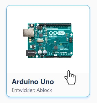Arduino mit mBlock - Auswahl des Geräts