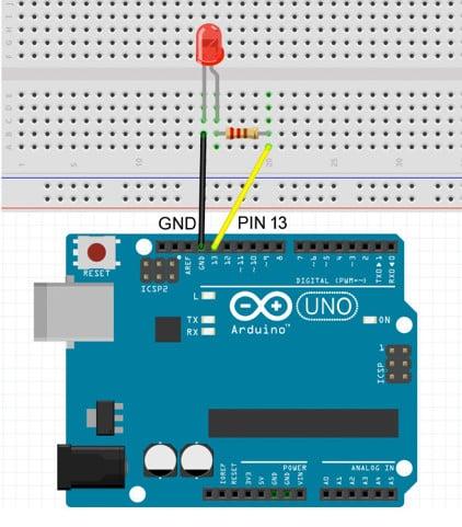 Arduino mit mBlock: Der Schaltungsaufbau