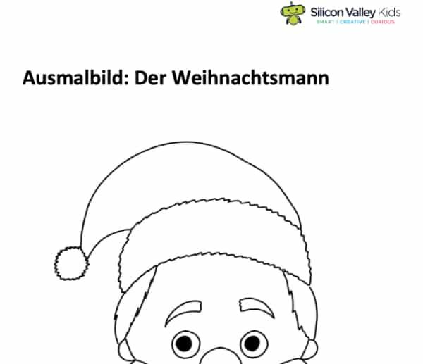 Weihnachtsmann Ausmalbild für Kinder