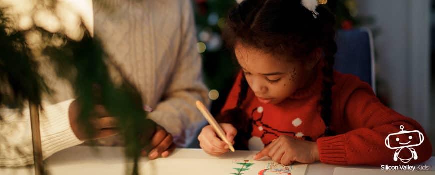 Weihnachtsmann malen - Anleitung für Kinder