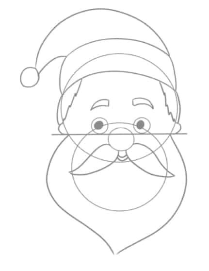 Weihnachtsmann malen: Die Augen