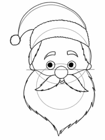 Weihnachtsmann zeichnen: Konturen