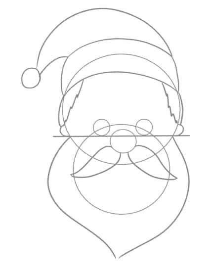 Weihnachtsmann zeichnen - Ohren