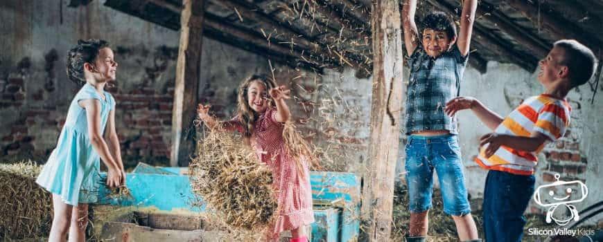 Kindergeburtstag Bauernhof - Spaß