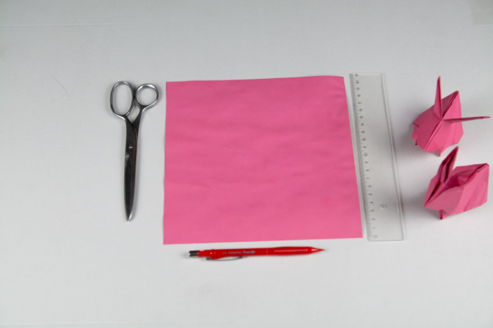 Origami Hase: Das Material
