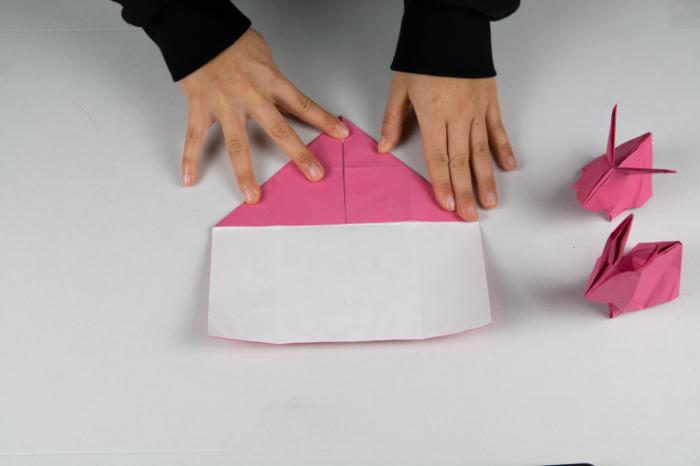 Origami Hase: Spitze falten