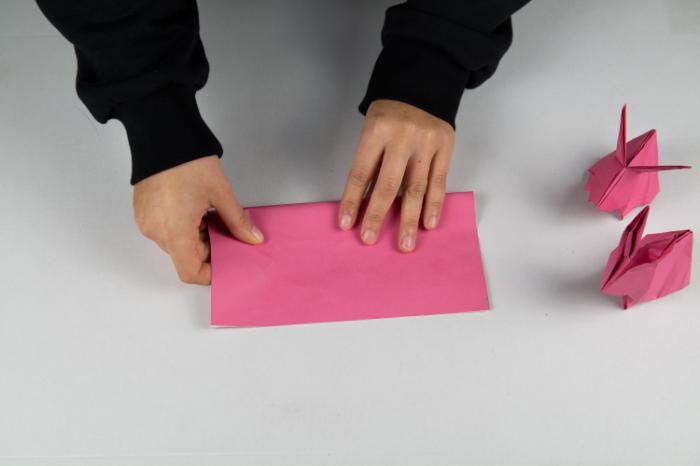Origami Hase: Die Vorbereitung