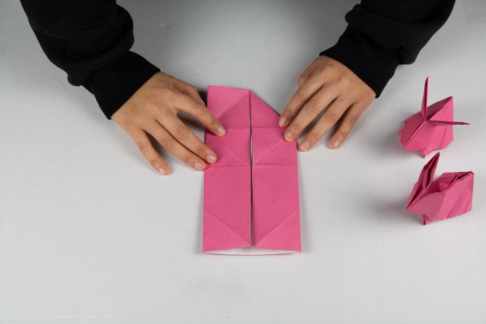 Den Origami Osterhasen falten