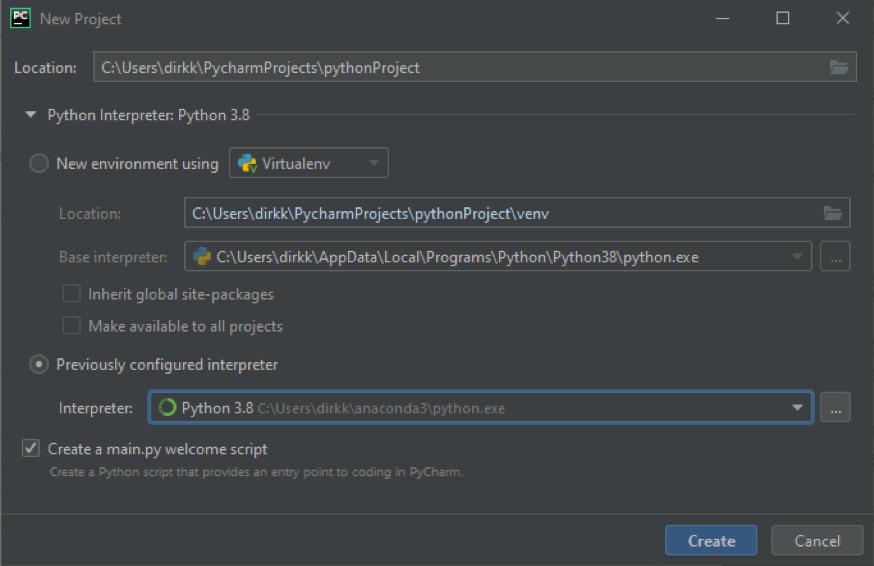 PyCharm: Die Datenabfrage