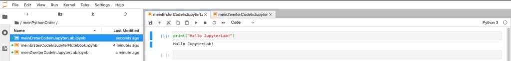 Die Code Ausgabe