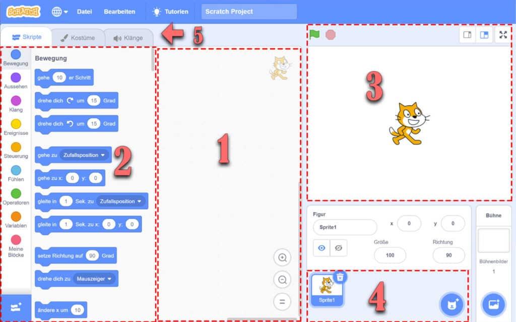 Scratch Desktop App: Der Aufbau