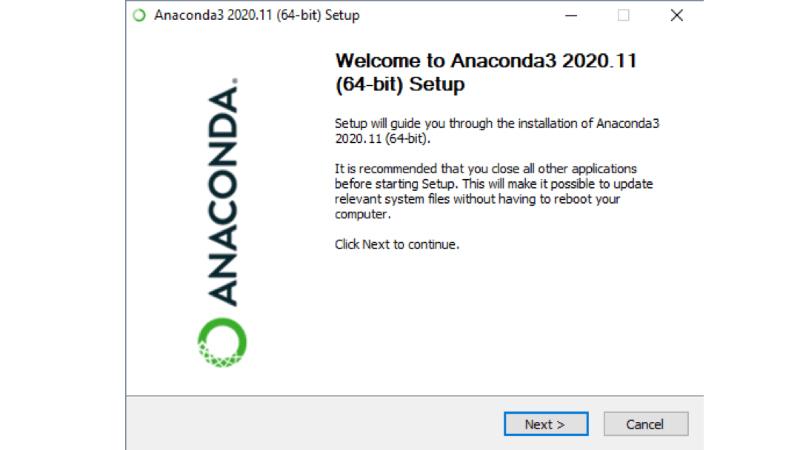 Anaconda in Python unter Windows einrichten