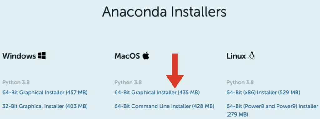 Python Anaconda für MacOS herunterladen