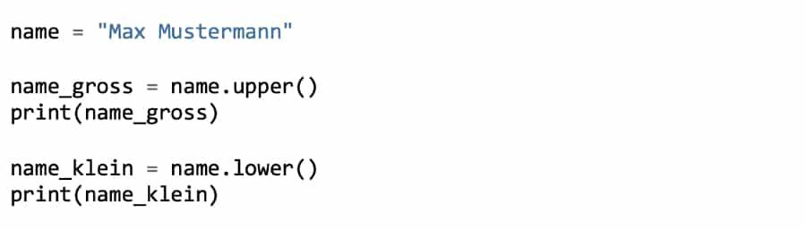 Python Strings umwandeln