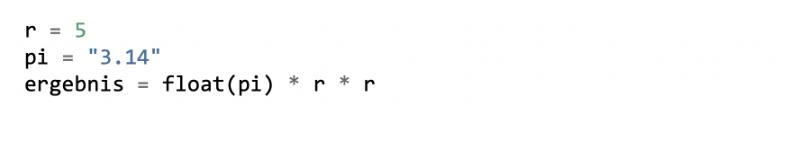 Python Variable in Fließkommazahlen umwandeln