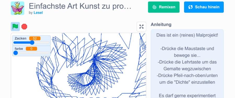 Scratch Projekt: Kunst