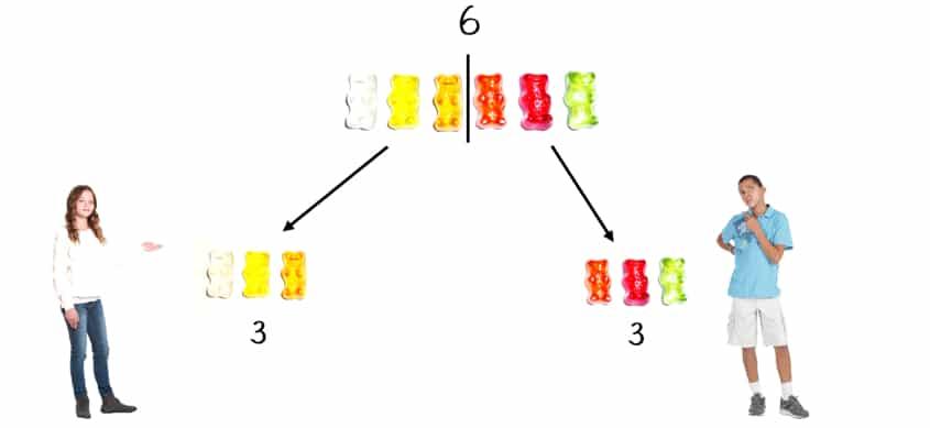 Gerade Zahlen durch 2 teilen