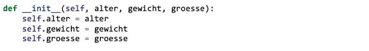 Klassen in Python: Objekte initialisieren