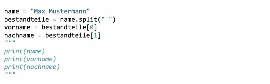 Kommentare in Python – Eine alternative Darstellung