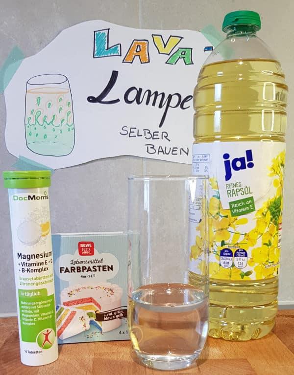 Lavalampe selber bauen: Wasser einfüllen