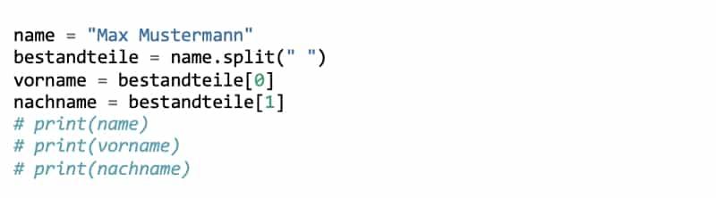 Python Kommentare über mehrere Zeilen darstellen