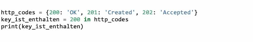 Python Dictionary – Key überprüfen
