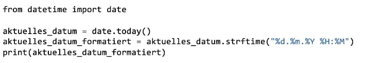 Python Funktionen: Datumsausgabe