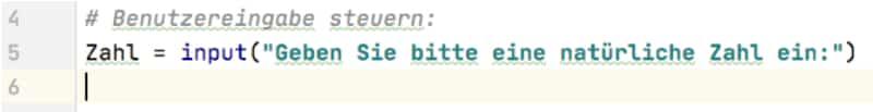 Quersumme in Python: Zahl abfragen