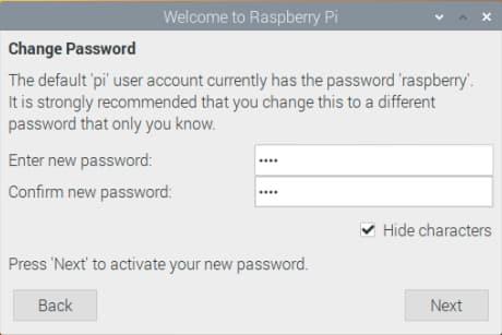 Raspberry Pi Installation – Das Passwort ändern