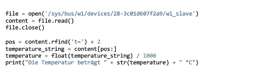 Den Raspberry Pi Temperatursensor auslesen