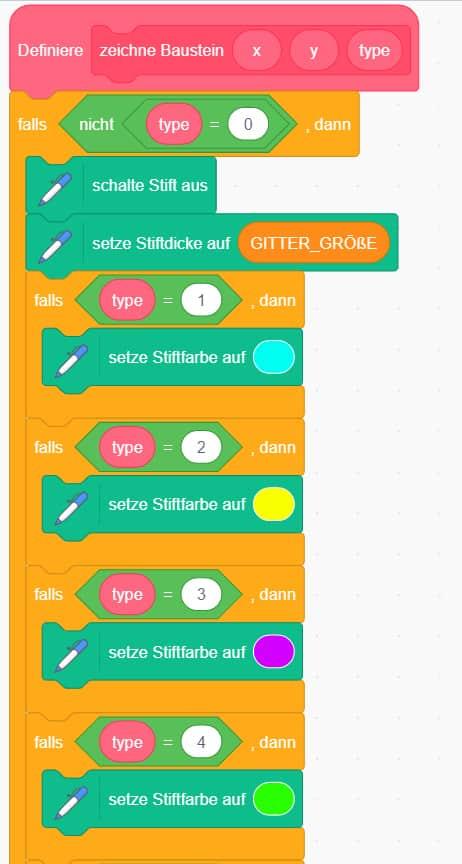 Scratch Tetris – Die Farbe der Bausteine festlegen