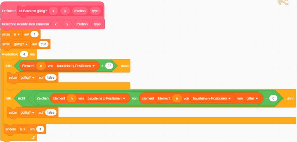 Scratch Tetris – Die Position der Bausteine berechnen