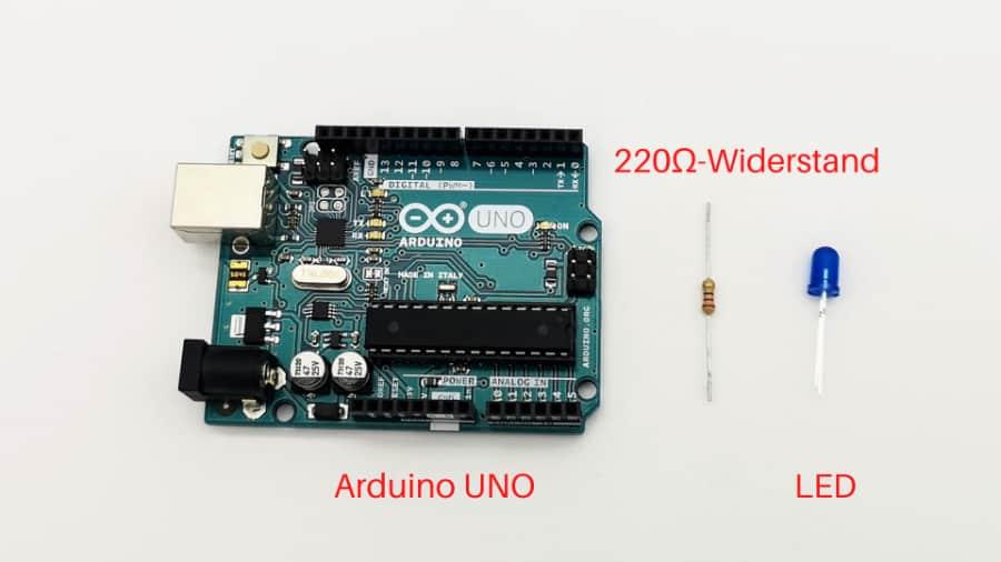 Arduino LED-Schaltung: Bauteile