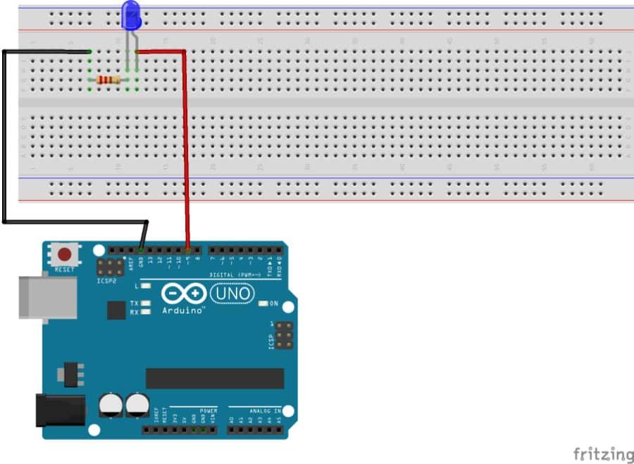 Arduino LED-Schaltung: Eine Zeichung