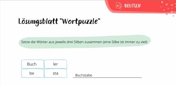 Wortpuzzle Lösung